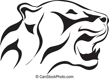 Vector tattoo sketch animal - Artistic vector tattoo sketch...