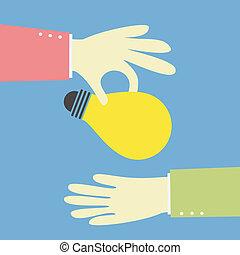 giving an idea bulb
