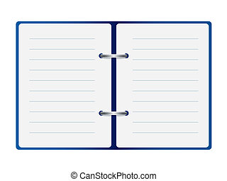 open notebook vector