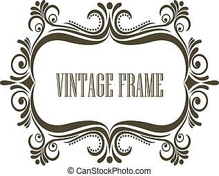Vintage frame with embellishments - Symmetrial vintage frame...