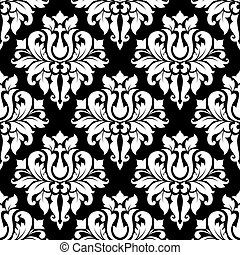 Vintage arabesque pattern with floral motifs