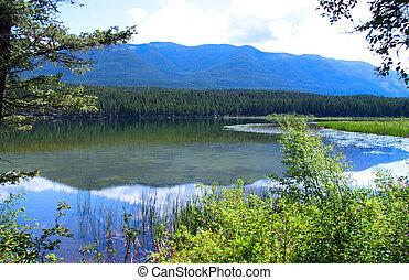 Lower still water lake - Scenic lower still water lake in...