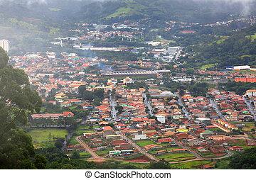 Misty Brazilian town