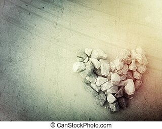 Heart stone background texture