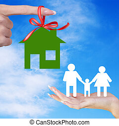 Happy Family Life - Gift Happy Green Home for Family.Happy...