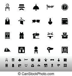 Dressing room icons on white background