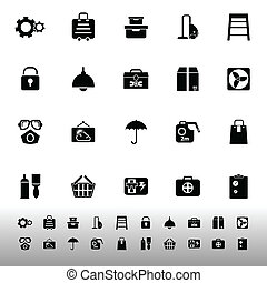 Home storage icons on white background, stock vector