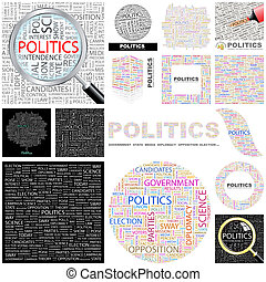 Politics. Concept illustration. - Politics. Word cloud...