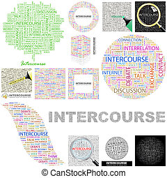 Intercourse. Concept illustration. - Intercourse. Word cloud...