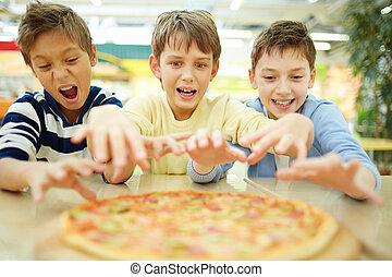 I want pizza!