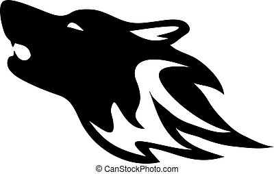 Wolf - Tribal wolf. Tattoo style vector.
