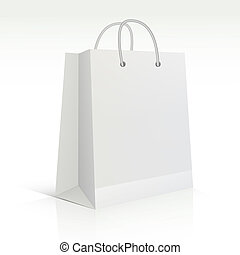 vector shopping bag over white