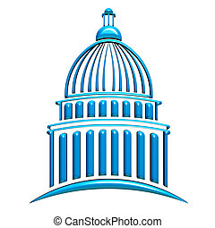 Capitol Building Blue
