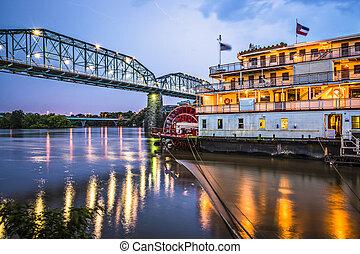 Chattanooga Tennessee - Chattanooga, Tennessee, USA at night...