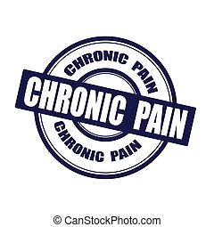 chronic pain grunge stamp on whit vector illustration