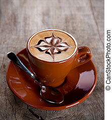 coffee cup - Coffee cup on wooden background.