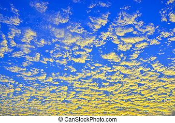Golden cloud in the sky