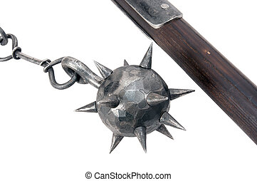 Medieval weapons for close combat. These weapons can pierce...