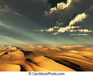 Dramatic Desert and Sky