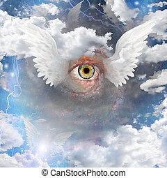 winged, olho