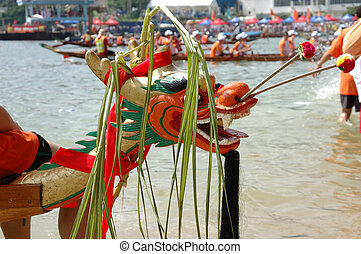 Dragon boat head - Head of a dragon boat