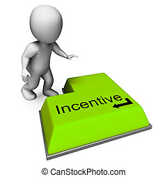 Incentive Key Shows Reward Premium Or Bonus - Incentive Key...