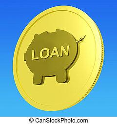 medel, lån, inlån, eller, kreditera, mynt, investering