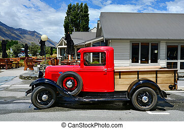 1930 Ford Model A Pickup - GLENORCHY, NZ - JAN 13:An 1930...