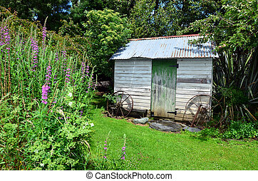 New Zealand NZ NZL - An old cabin in the woods.