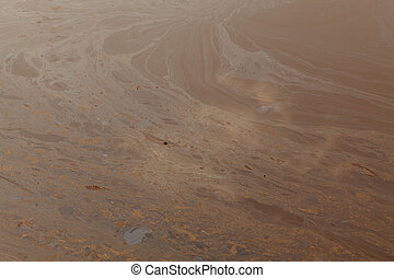 Pollution - Image of the surface of a very polluted expanse...