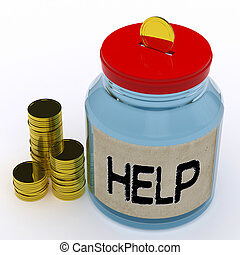 Help Jar Means Financial Aid Or Assistance - Help Jar...