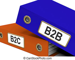 B2B And B2C Folders Meaning Company Partnerships Or Customer...