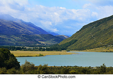 Landscape of Glenorchy New Zealand NZ NZL - landscape of the...