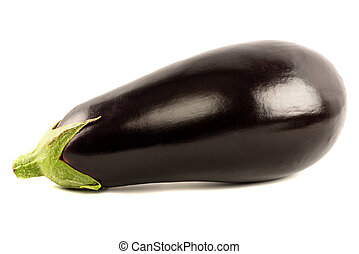 Eggplant Isolated with clipping path on a white background