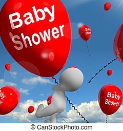 Baby Shower Balloons Shows Cheerful Parties and Festivities...