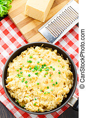 Macaroni and cheese - Delicious baked macaroni and cheese...