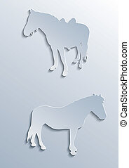 Two horses silhouettes
