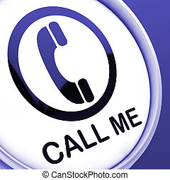 Call Me Button Shows Talk or Chat - Call Me Button Showing...