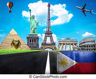 Travel the world conceptual image - Visit Philippines