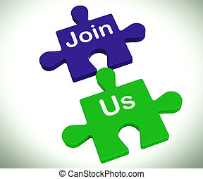 Join Us Puzzle Means Register Or Become A Member - Join Us...