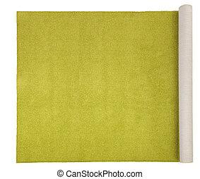 olive carpet on white