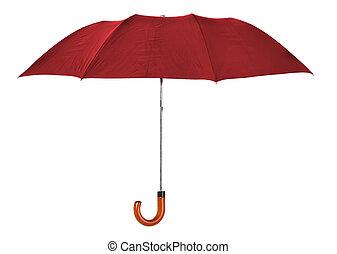 rojo, paraguas