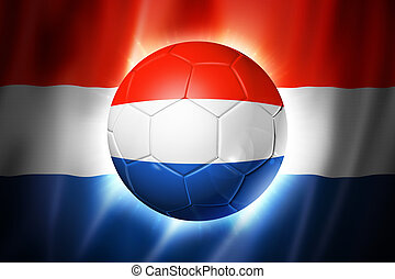 Soccer football ball with Netherlands flag - 3D soccer ball...