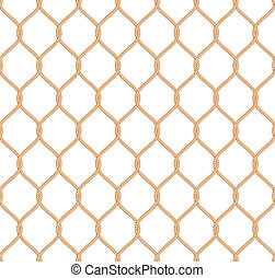 Rope marine net pattern seamless vector on white background