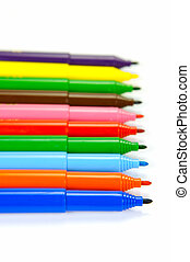 Connector Pens - Marker pens isolated against a white...