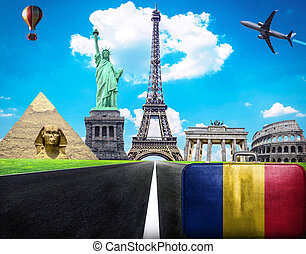 Travel the world conceptual image - Visit Romania