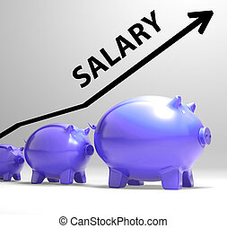 Salary Arrow Shows Pay Rise For Workers - Salary Arrow...