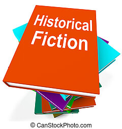 Historical Fiction Book Stack Means Books From History -...