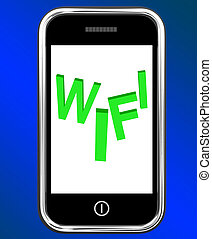 Wifi On Phone Shows Internet Hotspot Wi-fi Access Or...