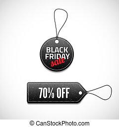 Black Friday sales tag set. Vector illustration for your...